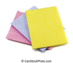 Kitchen napkins - Yellow, blue and pink kitchen napkins...