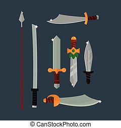 Knifes weapon illustration. - Knife weapon dangerous...