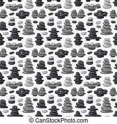 Relax stone seamless pattern vector. - Pebbly stones of...