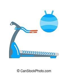 Treadmill vector illustration. - Treadmill isolated on white...