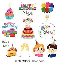 Happy Birthday Design Elements