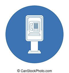 Payphone icon in black style isolated on white background....