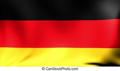 Germany flag background. Stylized flag of Germany with grunge texture background. Animated waving Great Britain flag abstract.