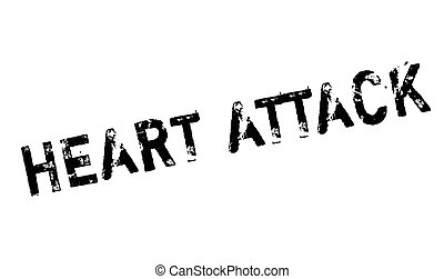 Heart Attack rubber stamp. Grunge design with dust...