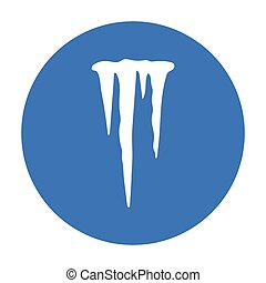 Icicles icon in black style isolated on white background....
