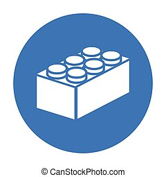 Building block black icon. Illustration for web and mobile...