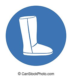 Ugg boots icon in black style isolated on white background....