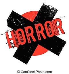 Horror rubber stamp. Grunge design with dust scratches....