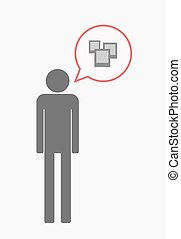 Isolated pictogram with a few photos - Illustration of an...