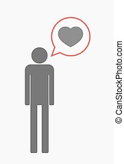 Isolated pictogram with a heart