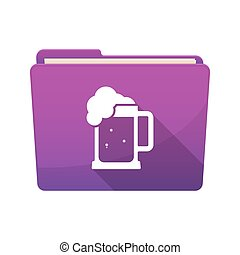 Isolated folder with  a beer jar icon