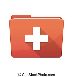Isolated folder with   the Swiss flag