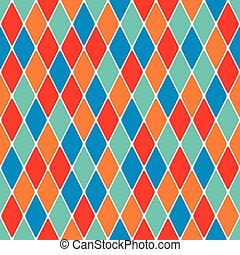 Harlequin seamless pattern 38 - Harlequin parti-coloured...