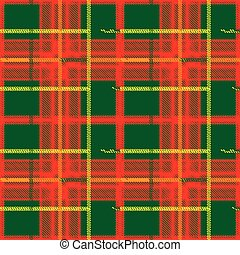 Traditional Scottish plaid seamless pattern Color bright...