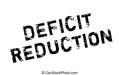 Deficit Reduction rubber stamp. Grunge design with dust...