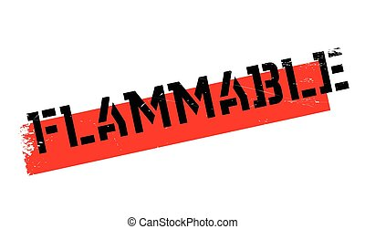 Flammable rubber stamp