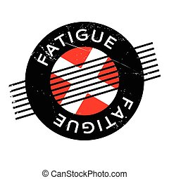 Fatigue rubber stamp. Grunge design with dust scratches....