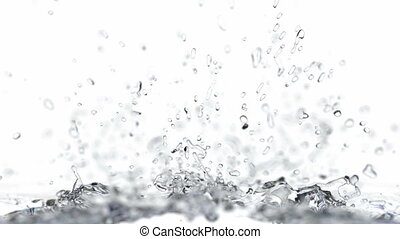 Splashing water realistic 3D animation - Clear water is...