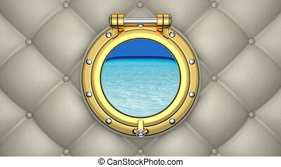 Porthole 3D animation - 3D animation of the luxurious yacht...