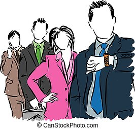 group of business people illustration.eps