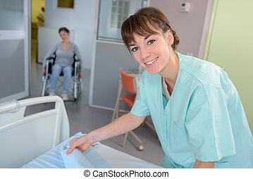 hospital room staff