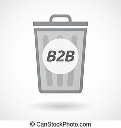 Isolated trashcan with the text B2B - Illustration of an...