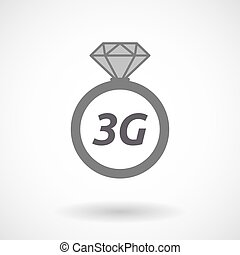 Isolated ring with the text 3G - Illustration of an isolated...