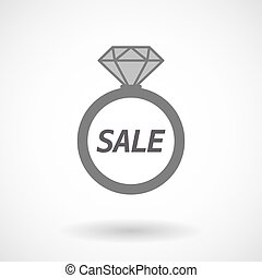 Isolated ring with    the text SALE