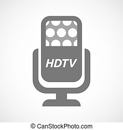 Isolated mic with the text HDTV - Illustration of an...