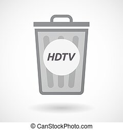 Isolated trashcan with the text HDTV - Illustration of an...