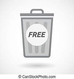 Isolated trashcan with the text FREE - Illustration of an...