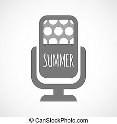 Isolated mic with    the text SUMMER
