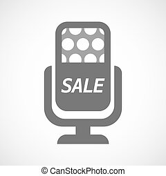 Isolated mic with    the text SALE