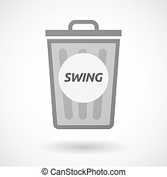 Isolated trashcan with the text SWING - Illustration of an...