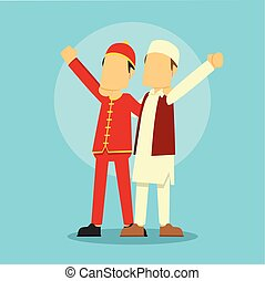 chinese man and muslim man be friend