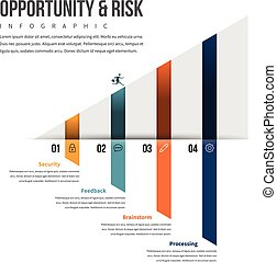 Opportunity and Risk Infographic - Vector illustration of...