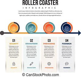 Roller Coaster Infographic - Vector illustration of roller...
