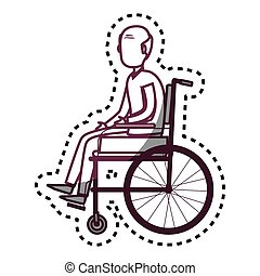 person disabled in wheelchair