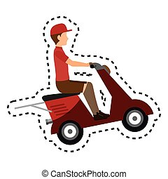 delivery motorcycle service icon