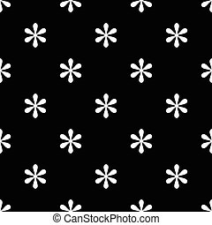 Seamless asterisk sign pattern on black background