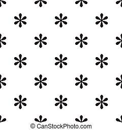 Seamless asterisk sign pattern on white background