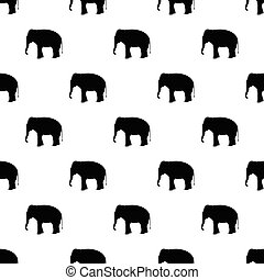 Seamless elephant pattern on white background