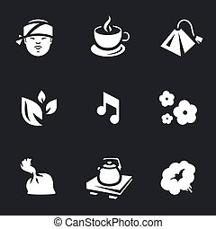 Vector Icons Set of Tea ceremony. - Asian, cup, tea bag,...