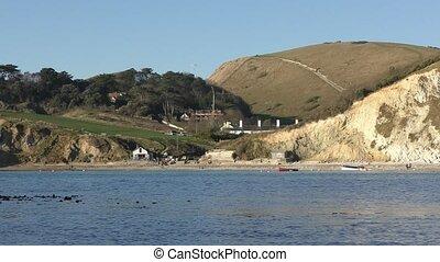 Lulworth Cove. Beautiful coast. - Lulworth. England. United...