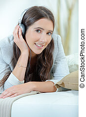 Music loves never takes off her headphones