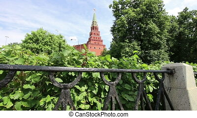View of Moscow Kremlin on a sunny day, Russia. Moscow...