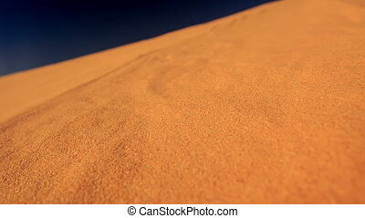 Closeup Quicksand of White Sand Dunes - closeup quicksand of...