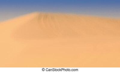 Closeup White Sand Dune Hill with Tracks - closeup white...