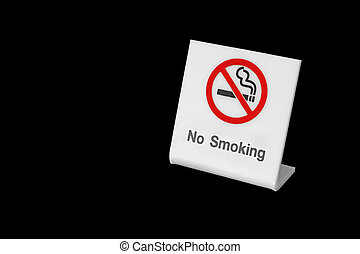 no smoking sign isolated on black background
