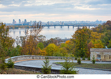 View of Kiev in the autumn